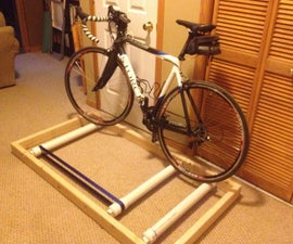 Bicycle roller trainer