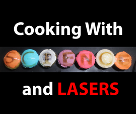 Toasted Marshmellow Patterned Cupcakes With LASERS!