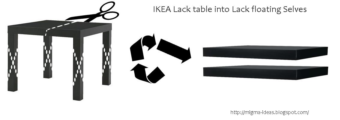 Picture of Ikea Lack Table Into Lack Floating Selves!
