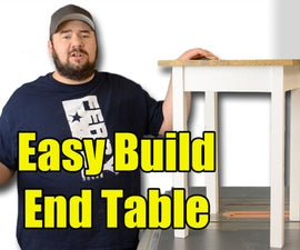Easy Build End Table - Limited Tools