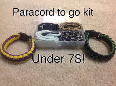 Homemade Paracord to Go Kit