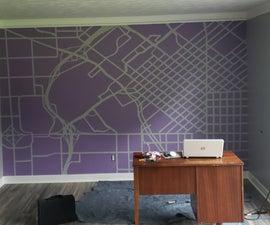 Wall Map Mural
