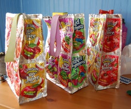 Recycled Juice Pouch Lunch Bag