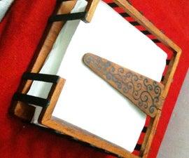 Wooden serviete holder