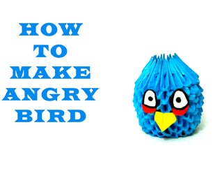 How to Make 3D Origami Angry Bird (HD)