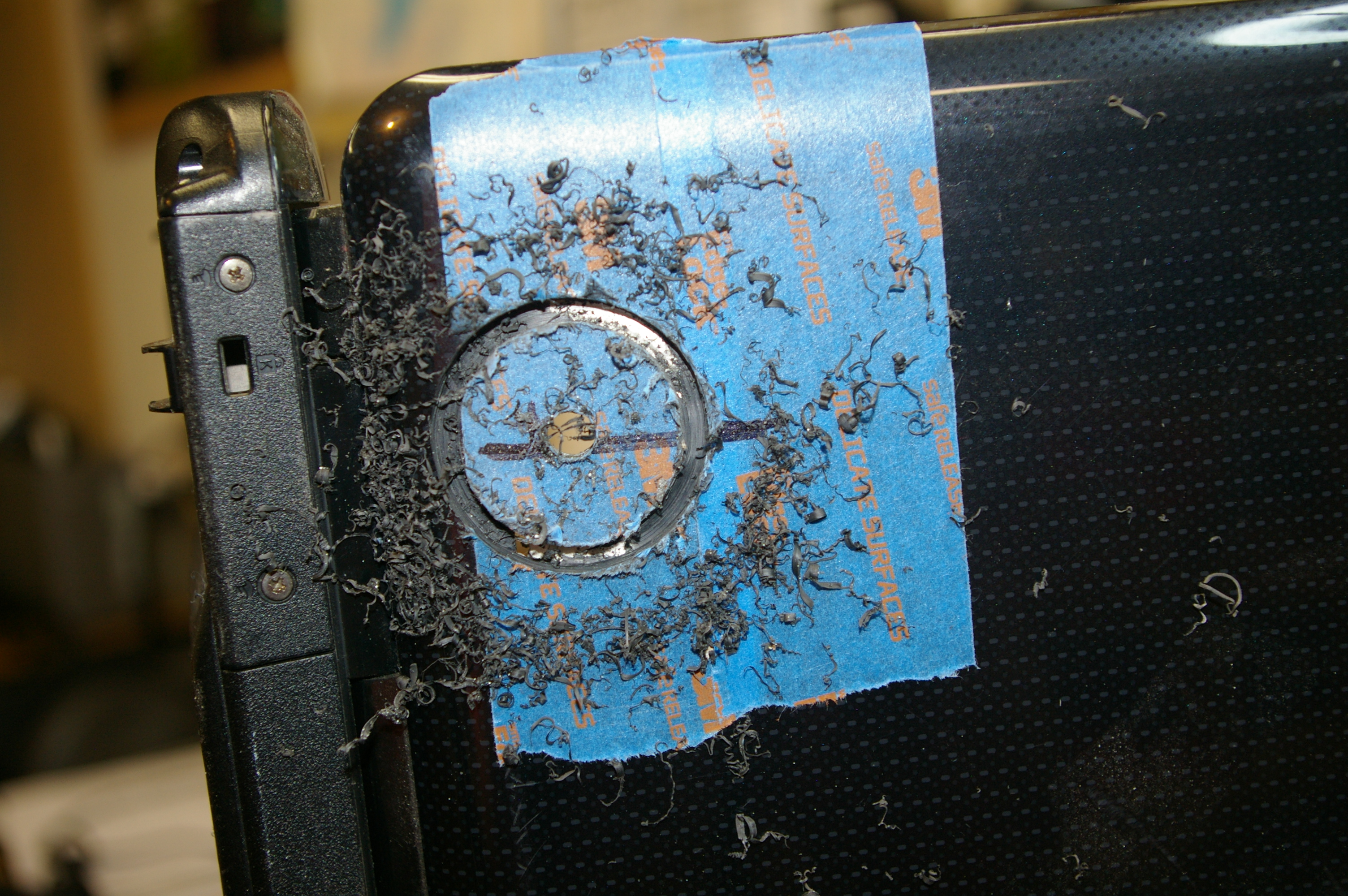 Picture of Add the Power Button Access Hole - Drill the Hole