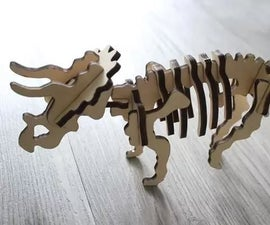 Make Your Ideas With Laser Anywhere-Make a Brave Triceratops Together!
