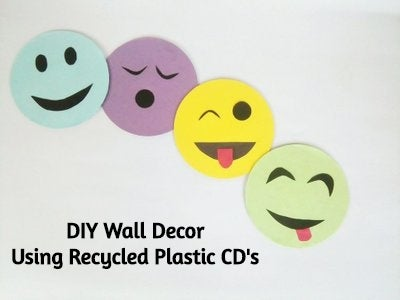 DIY Wall Decor - Using Recycled Plastic CD's