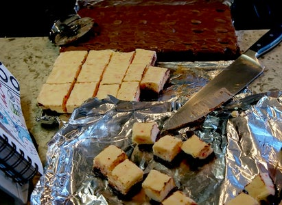 Cutting and Eating Fudge