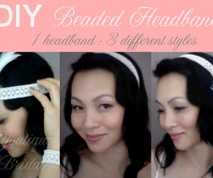 {TRINA} Beaded Wedding Headband : DIY Tutorial