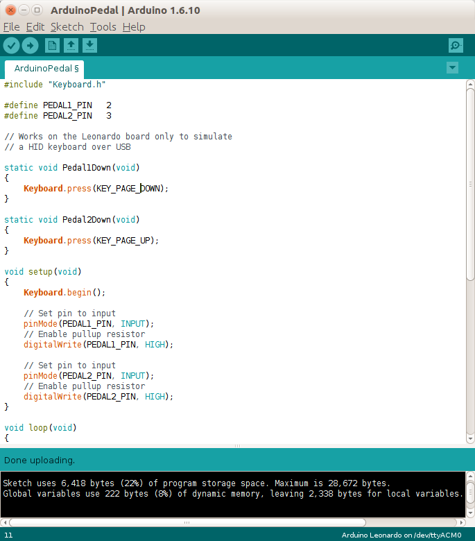 Picture of Arduino Sketch