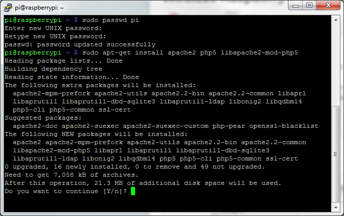 Picture of Installing Apache
