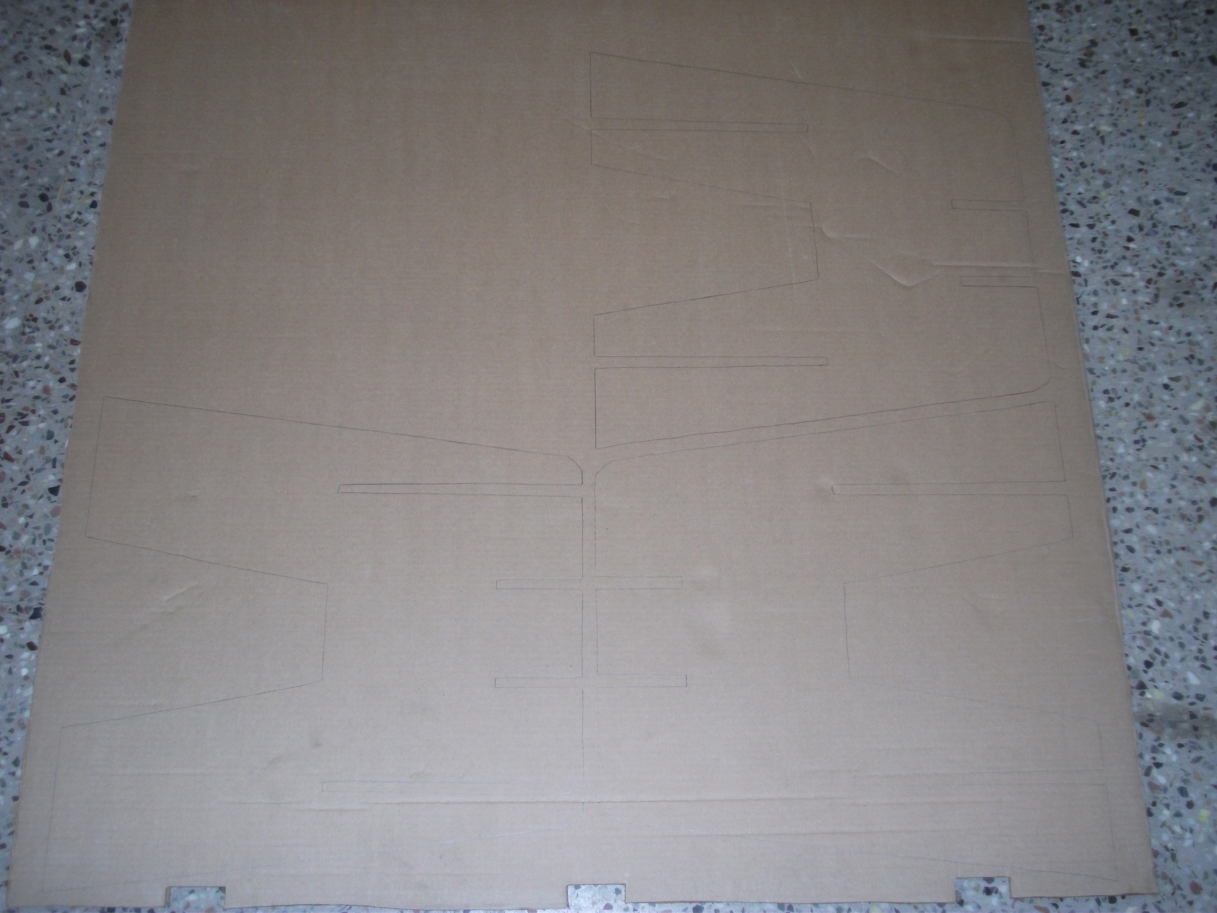 Picture of Tracing the Templates on Your Cardboard and Cutting Them Out