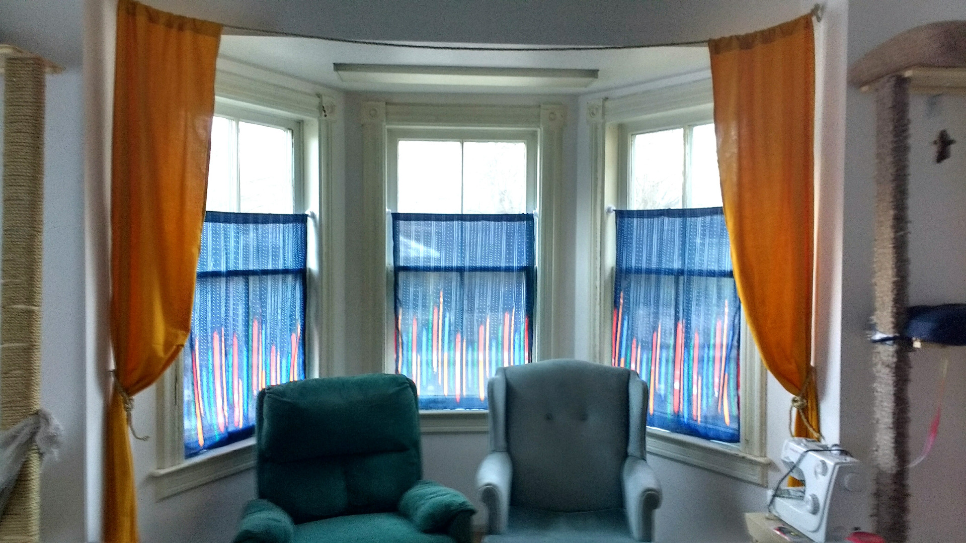 Picture of $7.25 Bay Window Curtains!