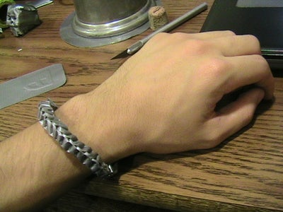 Braided (looking) Duct Tape Bracelet