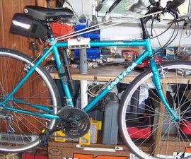 Bike Repair Stand on Work Bench.