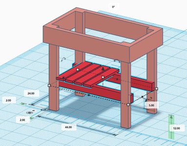 Step 2: Stability/Tool Shelf
