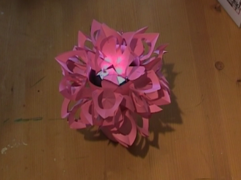 Paper flower night lamp 3 steps picture of paper flower night lamp mightylinksfo