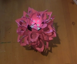 Paper flower night lamp .