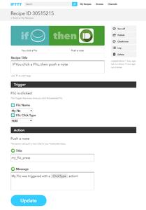 IFTTT Web Service Configuration