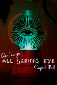 Color Changing All Seeing Eye Crystal Ball