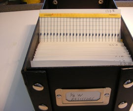 Easy Resistor Assortment Organization With Index Cards
