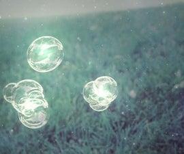 Glowing Bubbles! Fun Summer Craft