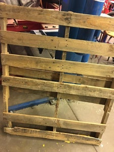 Apply Plywood to Shipping Pallet & Place Shipping Pallet