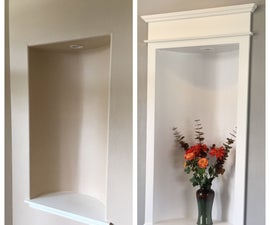Alcove Update With MDF and Moldings