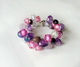 DIY Wire and Bead Bracelet