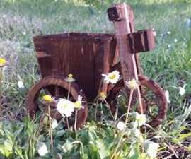 Tricycle With A Bucket. (Planter)