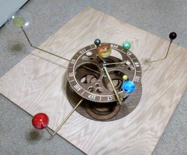 Orrery- A Mechanical Solar System Model from Plywood