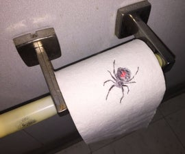 Spider on Toilet Paper Prank