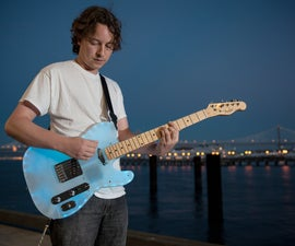 Glowing Color-Changing Guitar