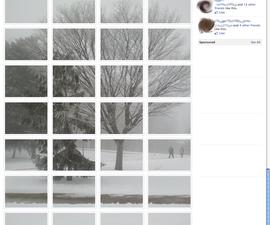 Facebook photoalbum to giant photo conversion.