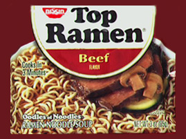 Picture of Top Ramen in Microwave