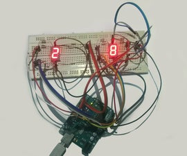 Simple Seven Segment Temperature Display Using Arduino