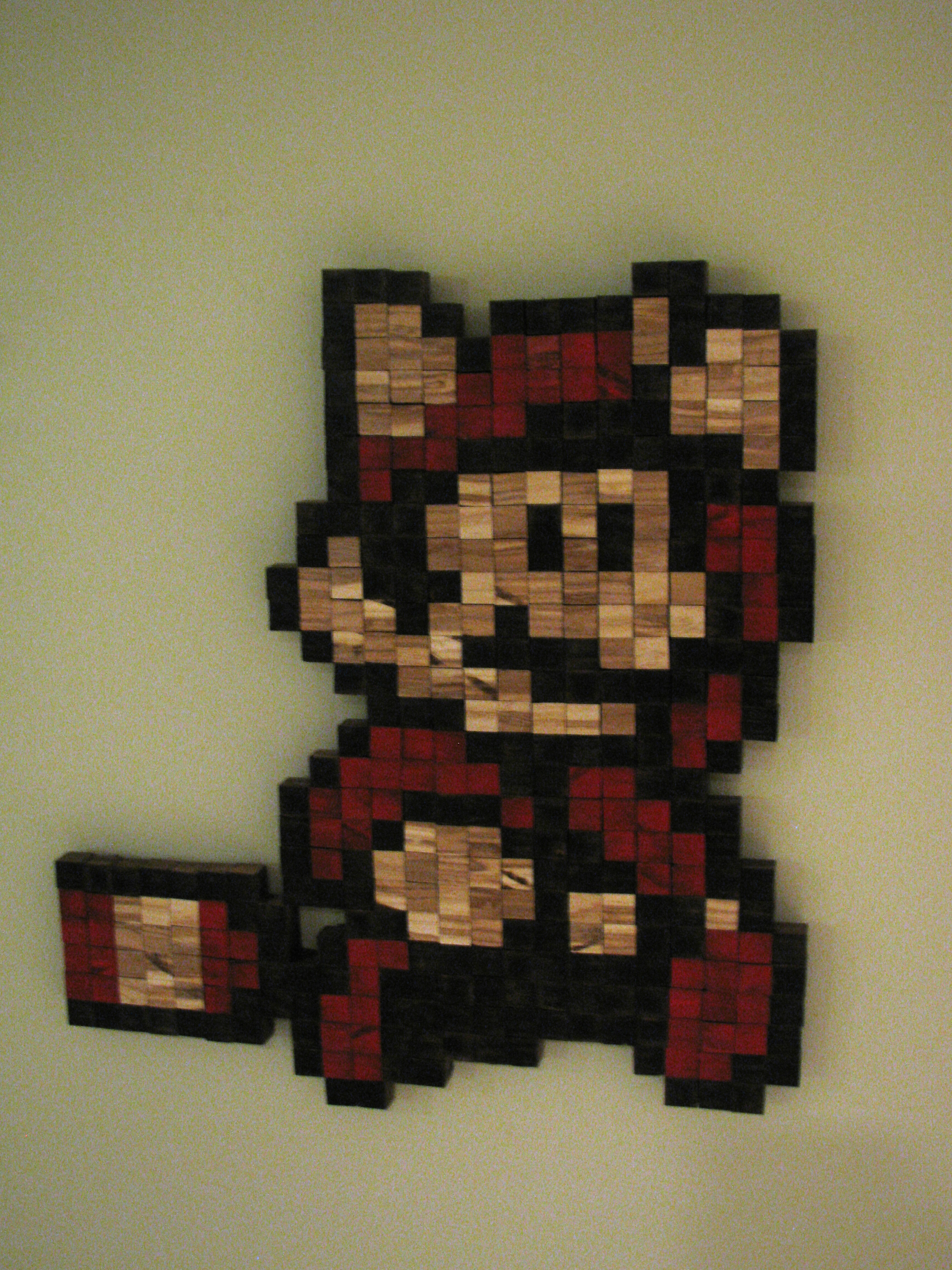 Picture of Stained Wood Cube Mario