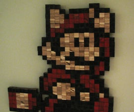 Stained Wood Cube Mario