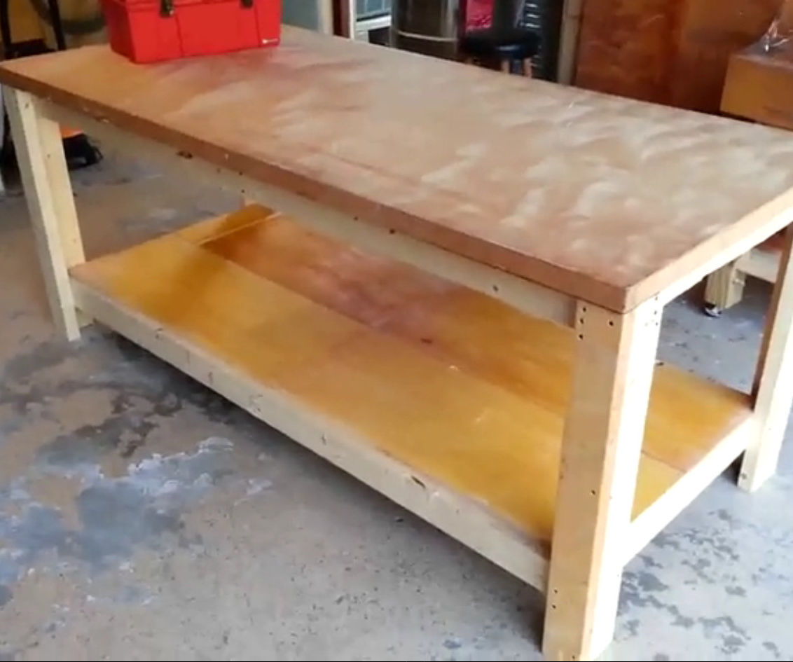 Workbench Design Ideas need workbench ideas the garage journal board an l shaped bench under window How To Build A Sturdy Workbench Inexpensively 5 Steps With Pictures