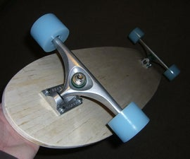 Popsicle Stick Longboard Deck
