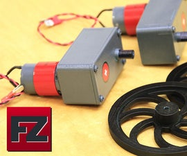 3d Printed Gearbox for Small Dc Motors