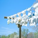 Cheap Treated Clothesline - Our Solar Clothes Dryer!