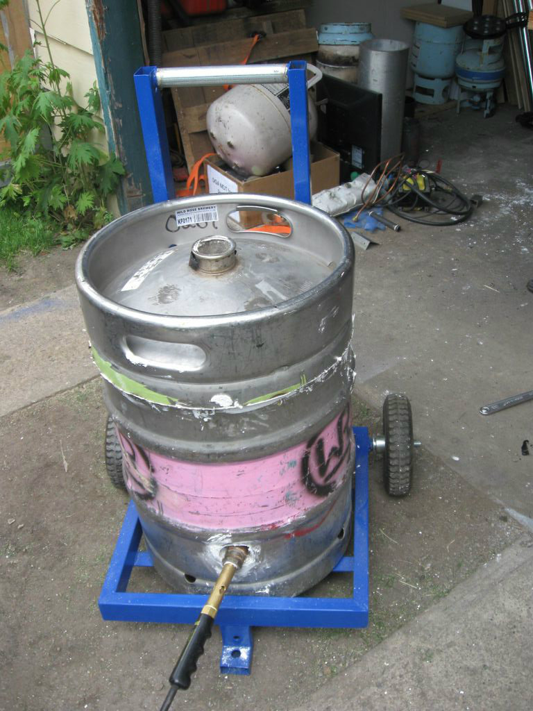 Picture of Beer Keg Metal Melting Furnace