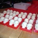 White Chocolate Skulls in PLA Trays
