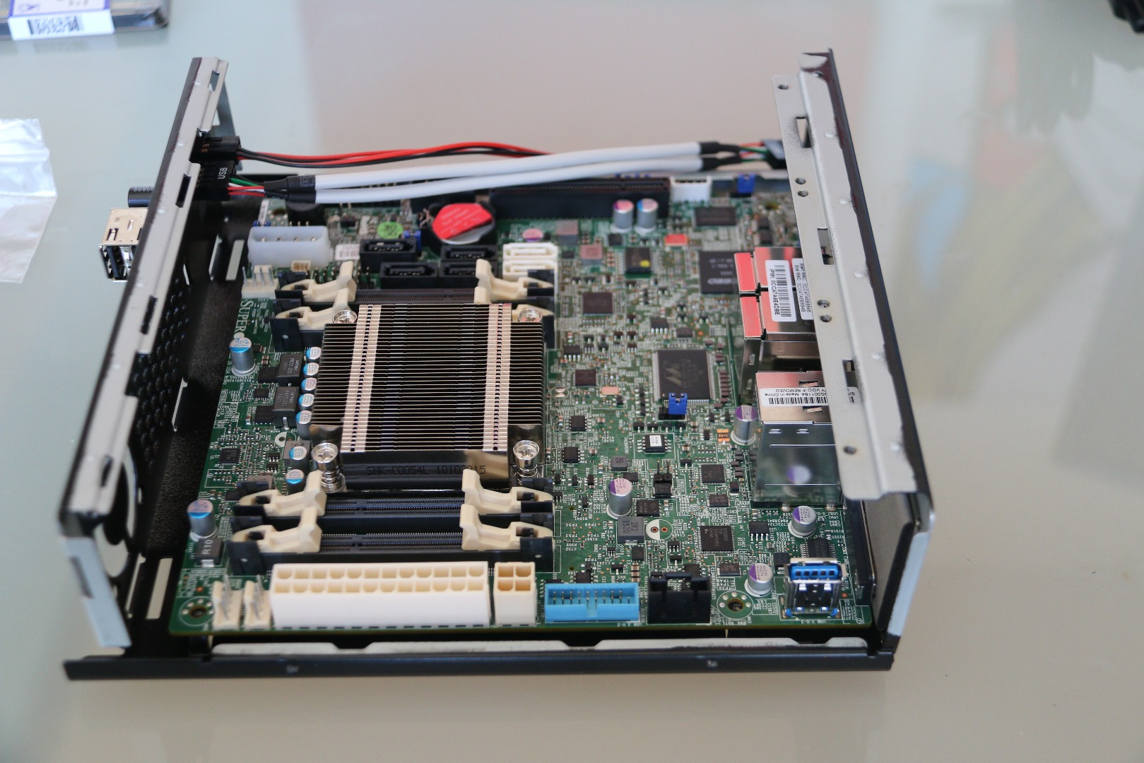 Picture of Installing the Motherboard