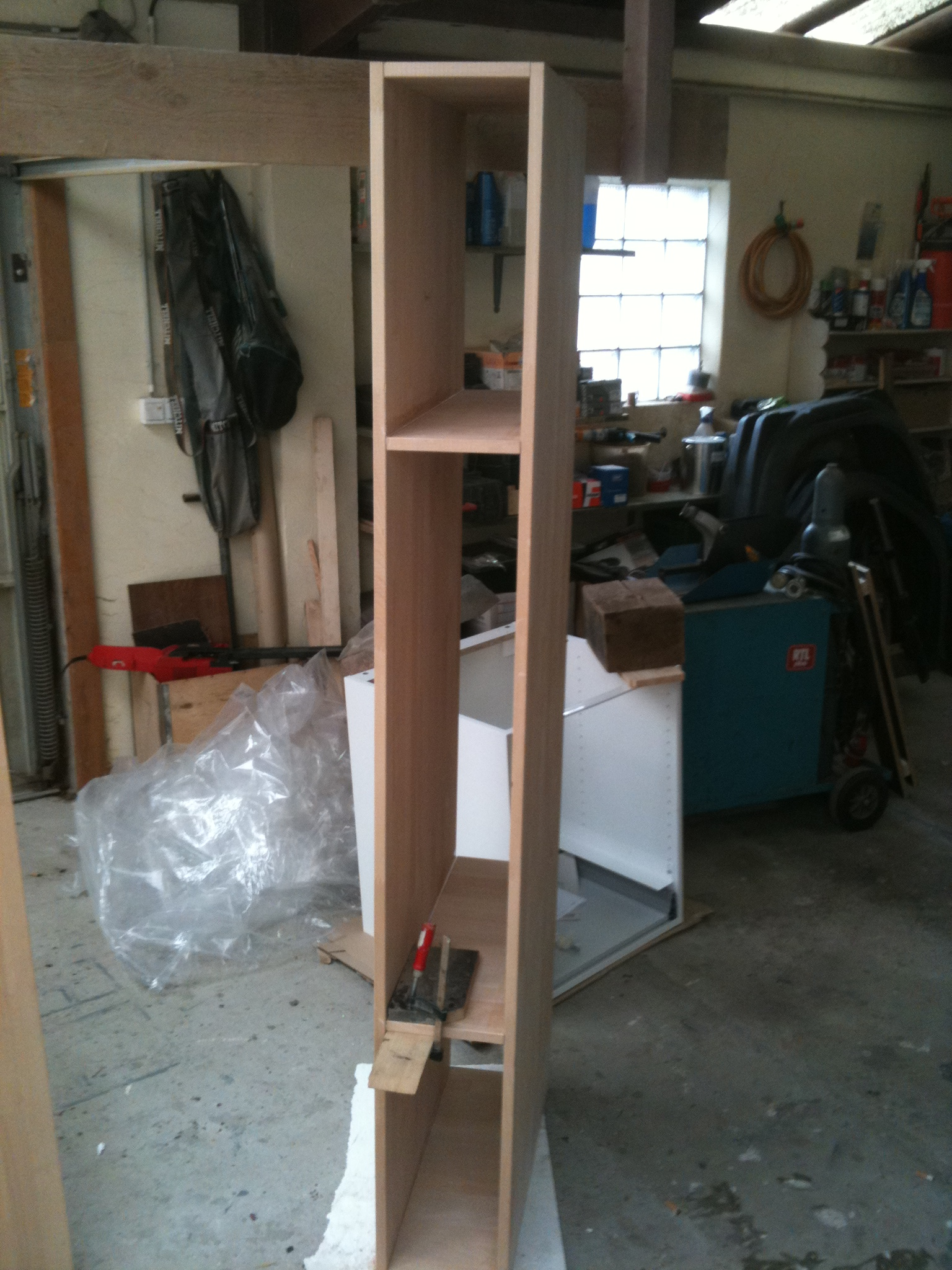 Picture of Building the Closets, Cutting and Screwing
