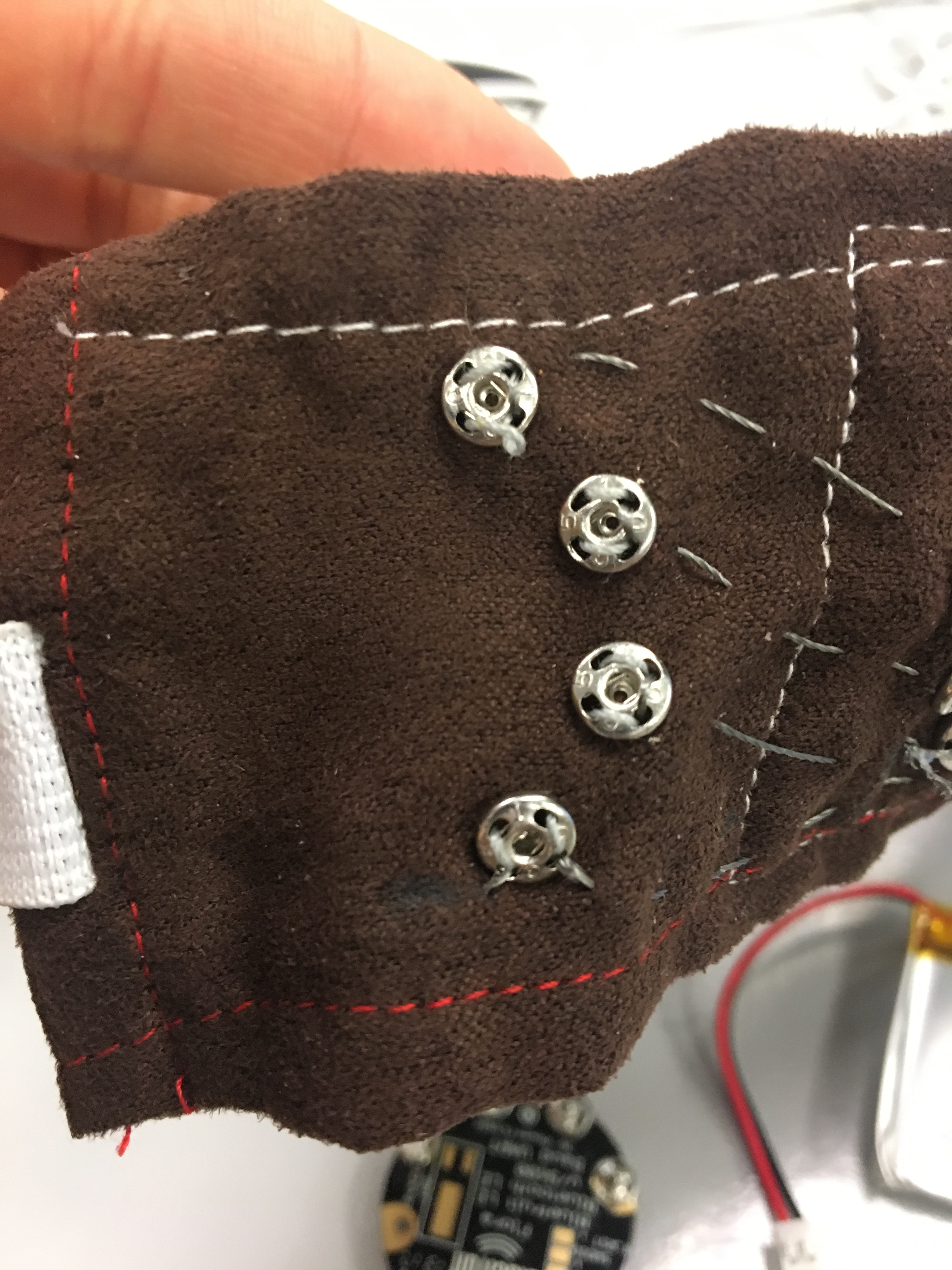 Picture of Sew Snaps Into Fabric for Bluetooth Module