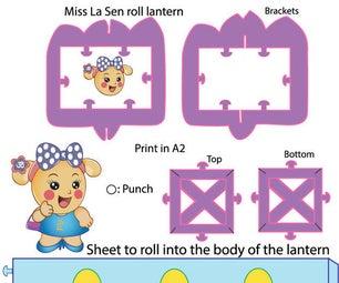 Miss La Sen Glass Paper Roll Lantern