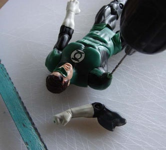 Drill Holes in Action Figure